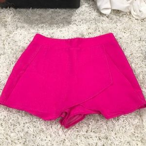 Hot pink skort